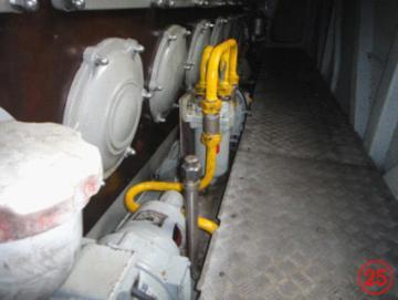 安装在机械室的七氟丙烷气体灭火系统的喷嘴